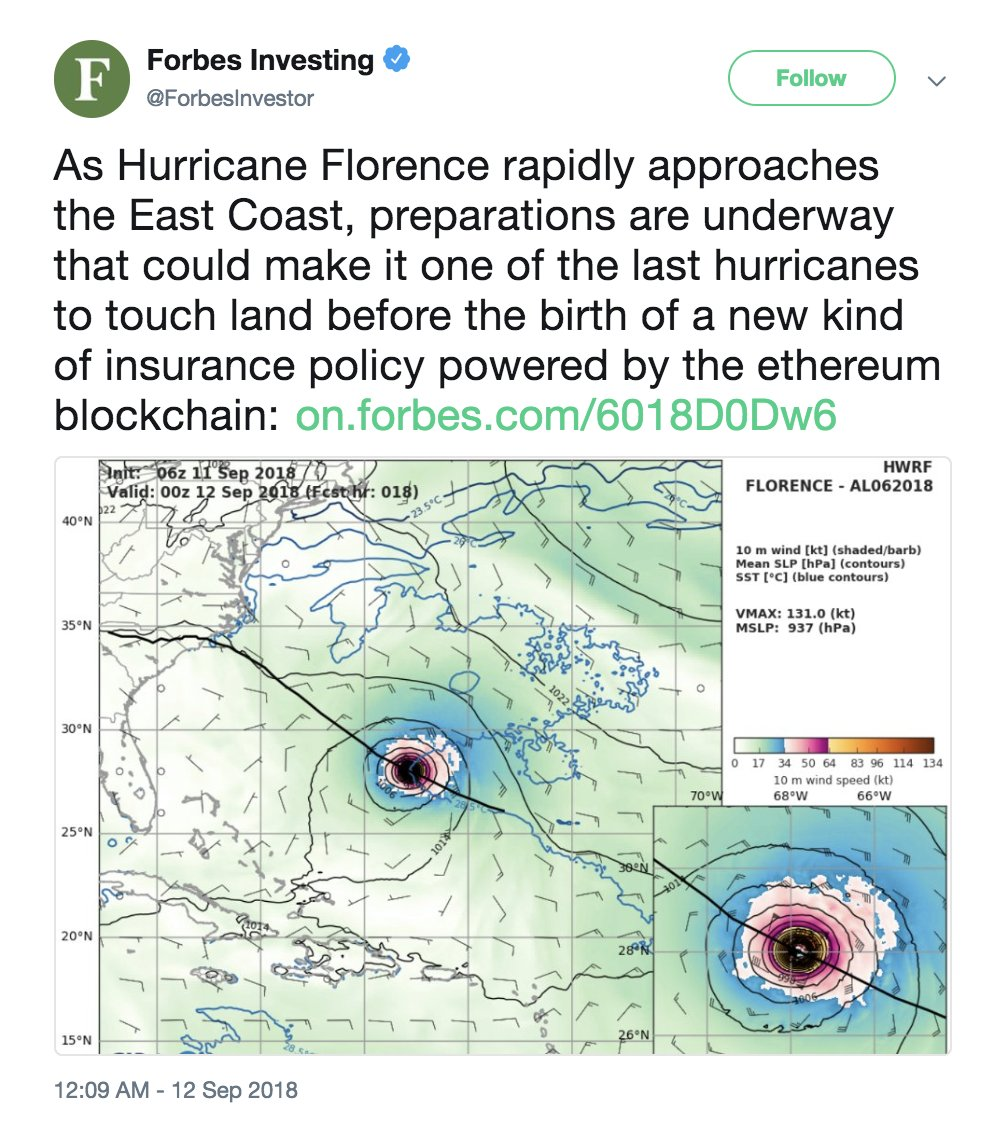 Forbes hurricane tweet