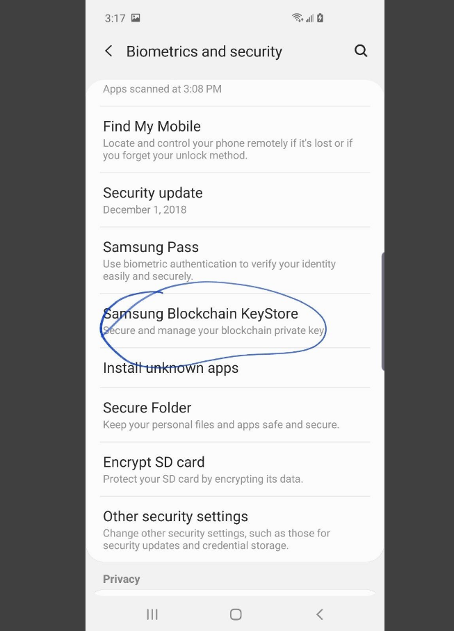 Leaked Images Suggest Samsung Galaxy S10 Will Come With a Crypto Wallet